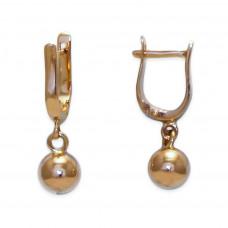Золотые серьги шарики Dior 2/0002/7