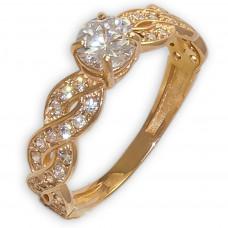 Золотое  помолвочное кольцо 1/1242