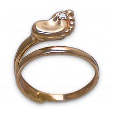 Золотое кольцо ножка младенца 1/1001