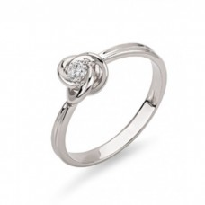 "Кольцо из белого золота ""Цветок"" 1/1008/1"