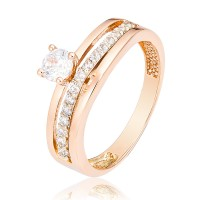 Золотое  помолвочное кольцо 1/1063