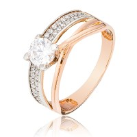 Золотое  помолвочное кольцо 1/1069