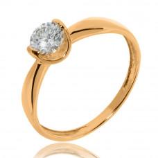 Золотое помолвочное кольцо «Первая любовь» 1/1071
