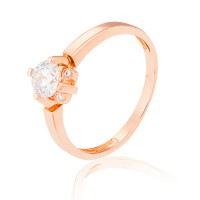Золотое  помолвочное кольцо 1/1082