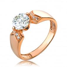 Золотое кольцо с камнем циркония 1/1111