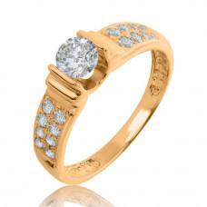 Золотое помолвочное кольцо 1/1128