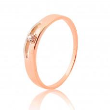 Золотое кольцо Gentle style 1/1133