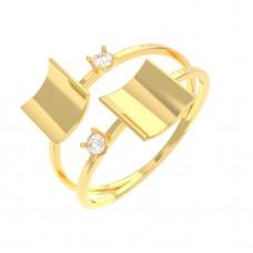 Золотое кольцо TRENDY 1/1137