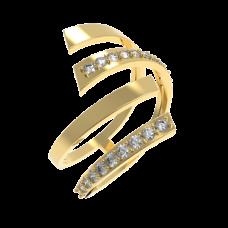 Объемное и легкое золотое кольцо 1/1208