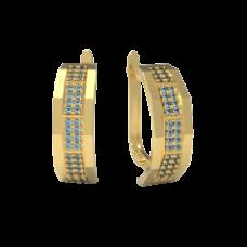 Золотые серьги Screw-bolt2/1131