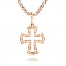 Золотой подвес в форме креста 3/1012