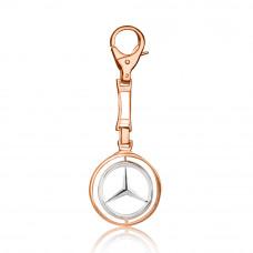 Золотой брелок для ключей с логотипом  Mercedes Benz 3/1028