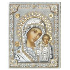 Икона Божья Матерь Казанская с позолотой