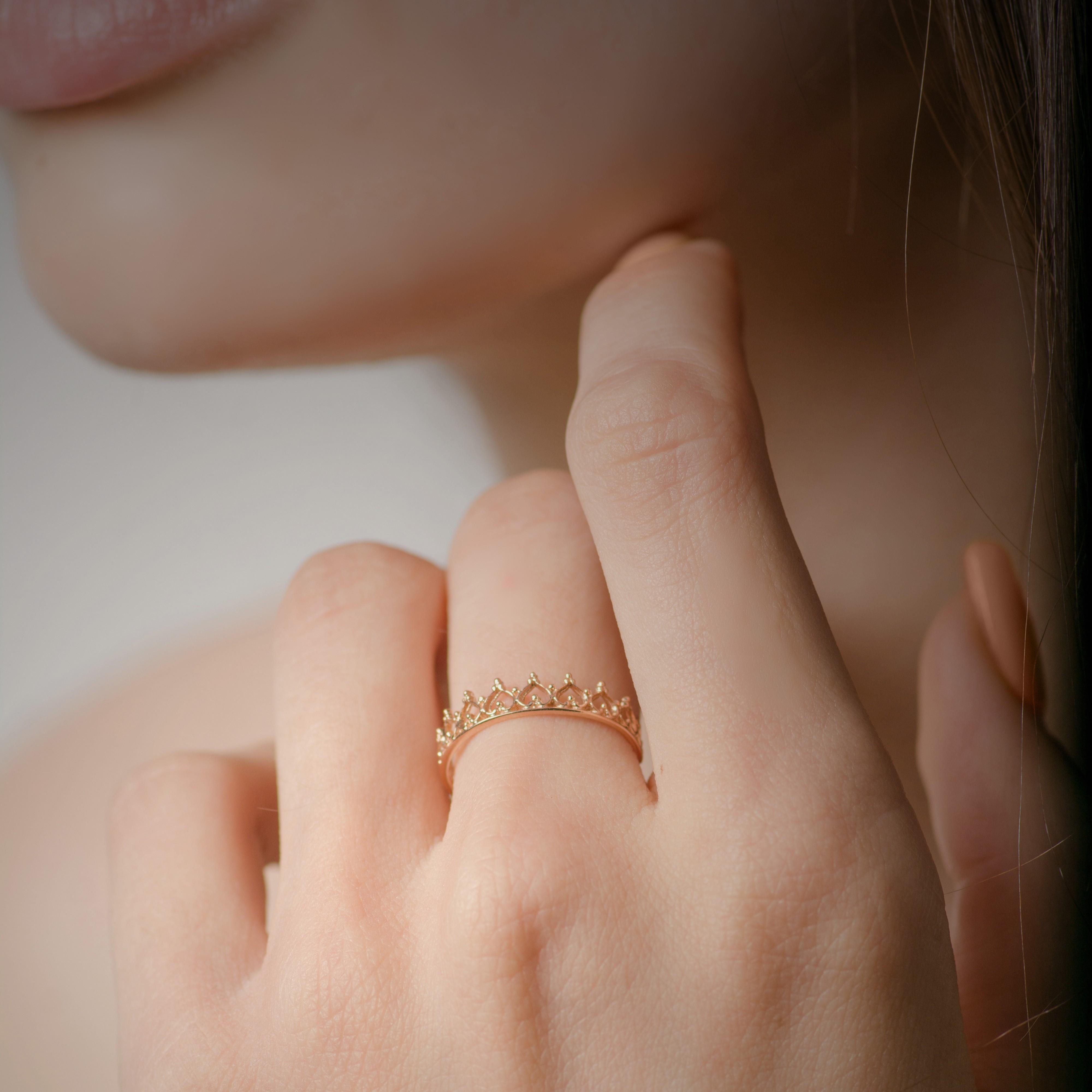 Золотое кольцо корона низкая цена от  производителя