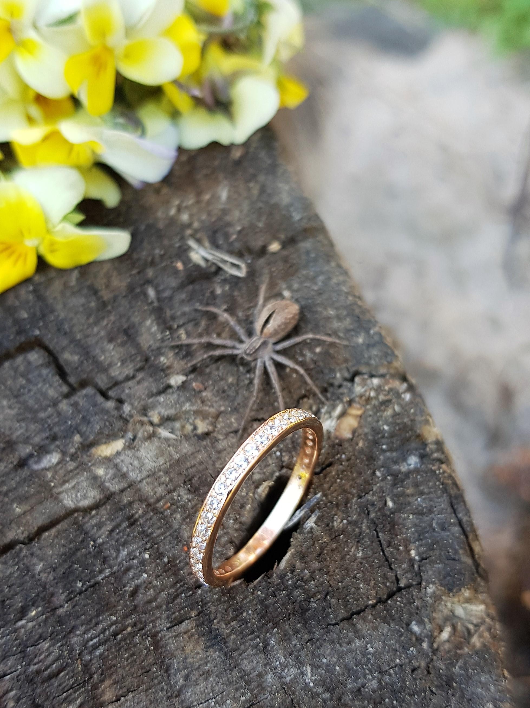 Нежное золотое кольцо дорожка по цене производителя