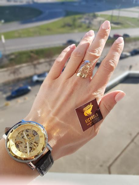 Красивое золотое кольцо в итальянском стиле