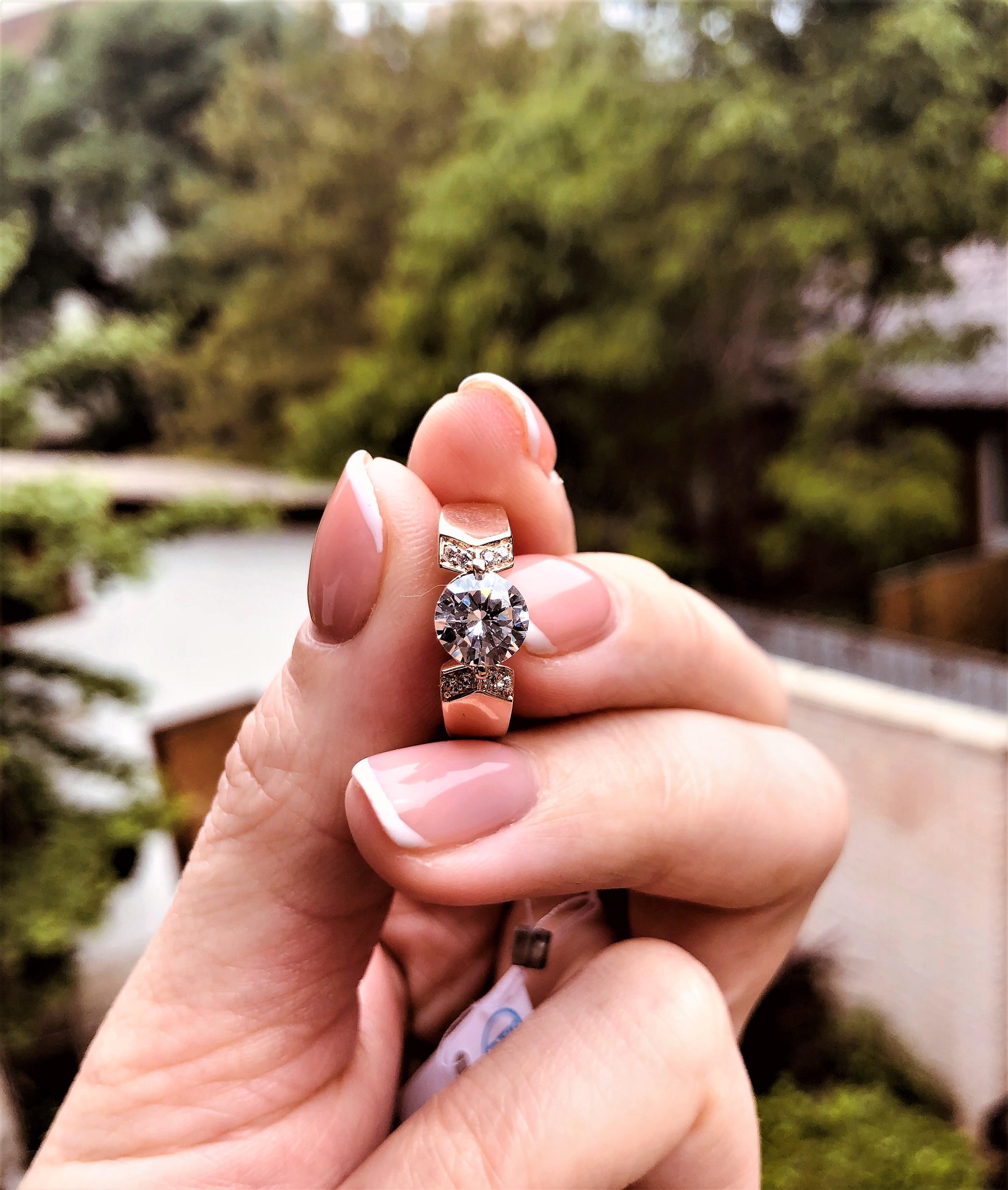 Кольцо из золота с камнем циркония оптовые цены
