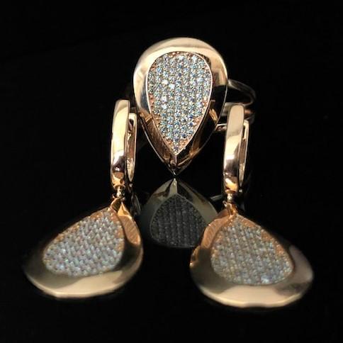 Золотые серьги Капли по цене напрямую от производителя Киевголд