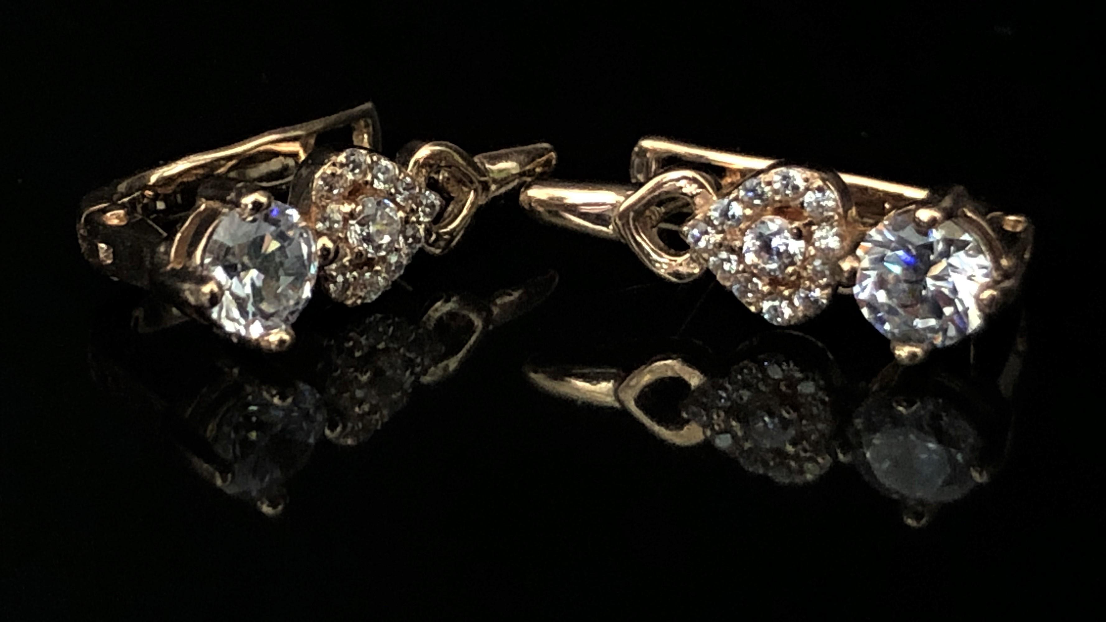 Королевские Золотые серьги по цене производителя Киевголд