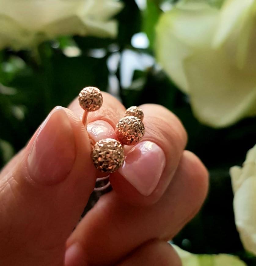 Золотые пусеты-гвоздики по оптовым ценам от Киевголд
