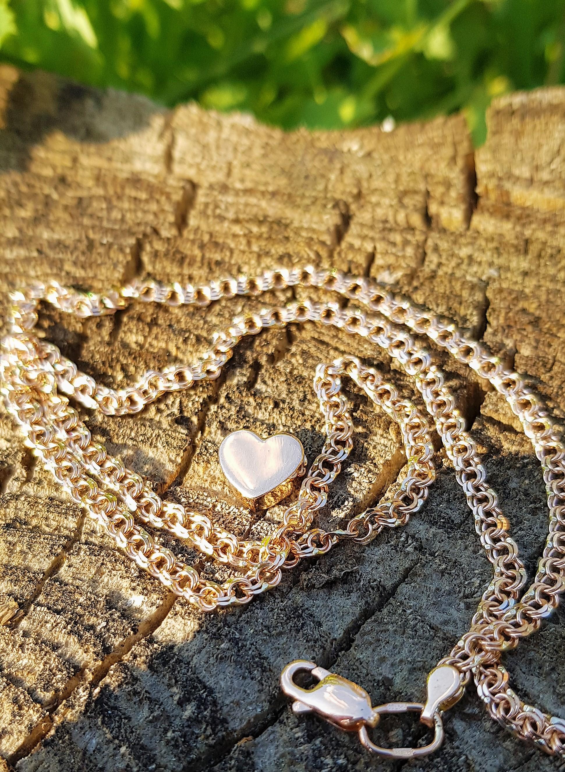 Золотой подвес кулон в форме Сердца по цене производителя
